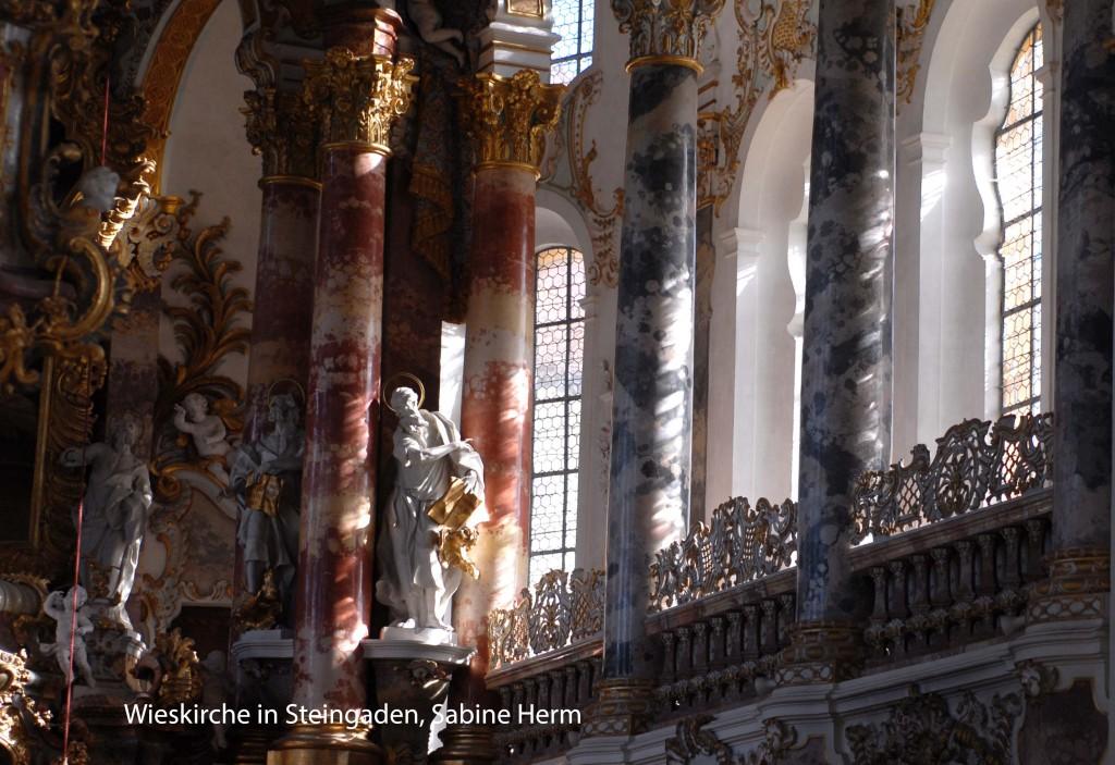 Schütze auch als Symbol für Glaube und die Kirche, fotografiert von Sabine Herm; Wieskirche in Steingaden